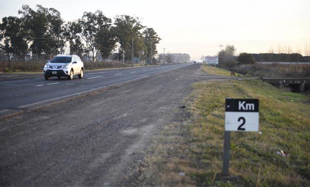 En el kilómetro 2 de la ruta provincial 18 fue hallado el cadáver de César Ojeda. (Foto: S. Suárez Meccia)