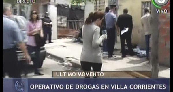Secuestran mil bochas de cocaína en un operativo antidrogas en Villa Corrientes