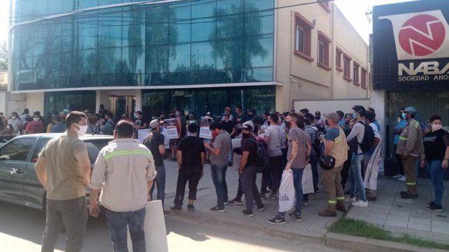 Marcha de estibadores para pedir el regreso de Herme Juárez