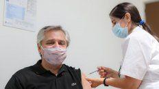 El presidente Alberto Fernández recibió la vacuna Sputnik V.