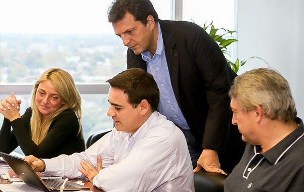 Equipo. Massa se reunió con sus asesores técnicos para avanzar con su proyecto de reforma política y electoral.