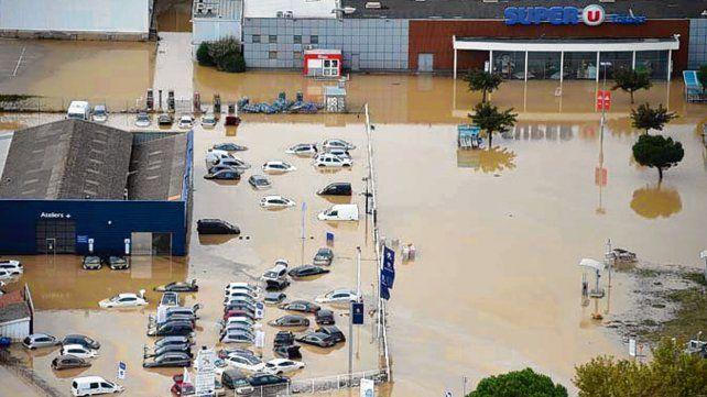Carcasona. Las fuertes lluvias superaron el nivel de las caídas en 1891.