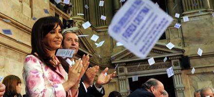 Cristina inauguró las sesiones del Congreso con dardos para Binner