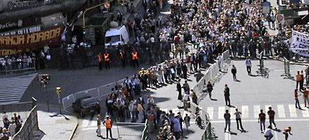 Multitudinaria y emotiva despedida a Raúl Alfonsín