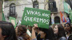 Una de las marchas en Rosario para pedir que pare la violencia machista.