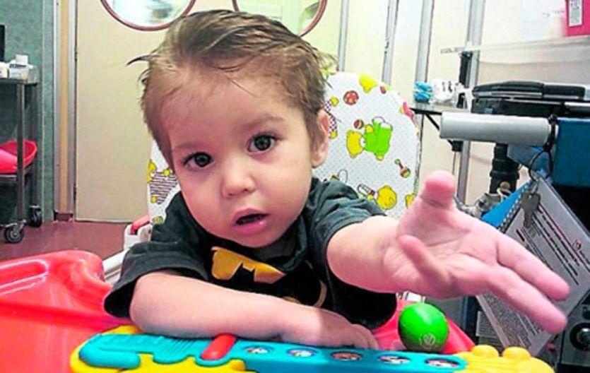Entereza. Renzo vivió en sanatorios y hospitales desde que nació para tratarse de una cardiopatía congénita.