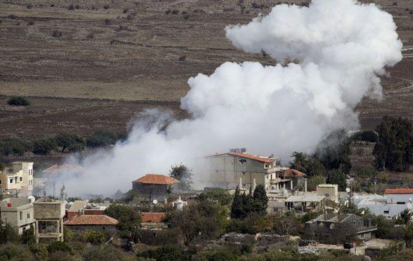 Los tanques israelíes atacaron una batería de artillería en el pueblo sirio de Bariqa.