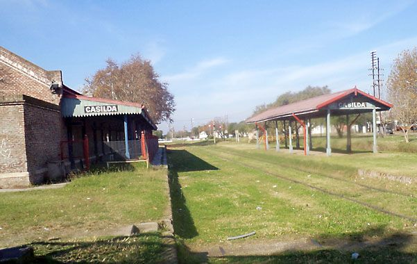 La estación ferroviaria de Casilda es testigo de un servicio que funcionó durante años.