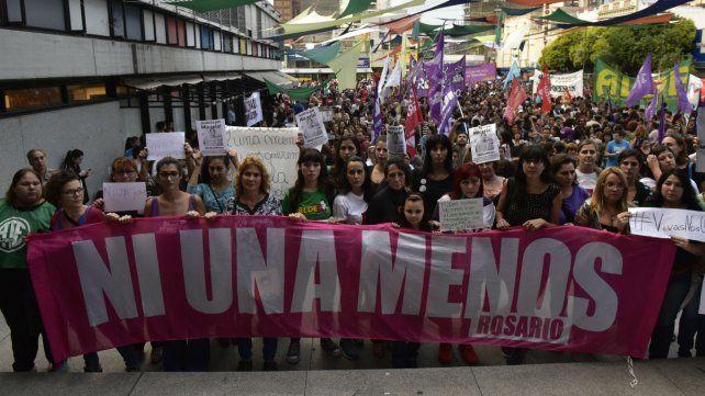 La última marcha que se hizo en Rosario fue por el caso de Micaela García.