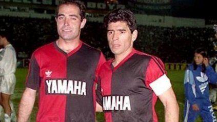 El volante y el delantero del equipo que dirigía Jorge Indio Solari.