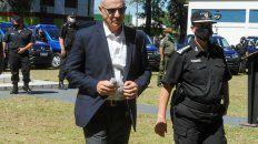 El funcionario reivindicó su gestión en Seguridad, un área sensible para la administración de Perotti.