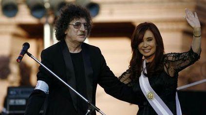Chaly García junto a Cristina Fernández de Kirchner, cuando era presidenta de la Nación.