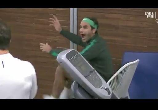 El suizo disfruta el tenis como un aficionado más.