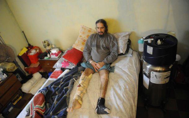 Secuelas. El tremendo accidente que sufrió Angel Santos fue el 2 de noviembre del año pasado
