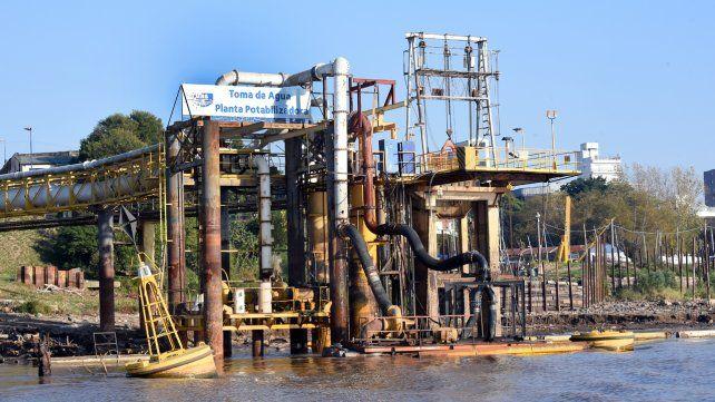 La planta potabilizadora de Arroyito ha incorporado más bombas de captación.