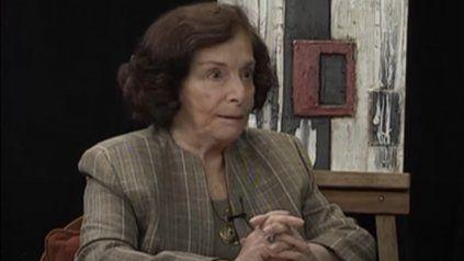 Nilda de Siemienczuk en 2013 en el programa de TV Historias de gente común de Somos Rosario.