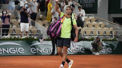 Rafa Nadal no tuvo el rendimiento que esperaba en las semifinales de Roland Garros. Se notó la merma física en varios pasajes.