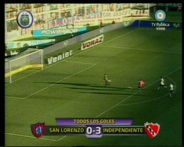 Independiente goleó 3 a 0 a San Lorenzo y sigue en la lucha por el título