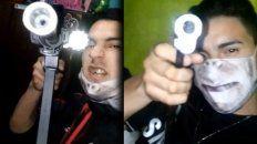Video: un sicario de Chuky Monedita se grabó con una ametralladora