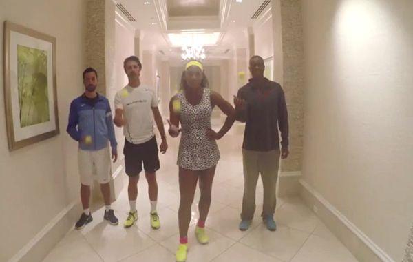 El video de Serena fue filmado en un lujoso hotel donde la tenista exhibió sus condiciones.
