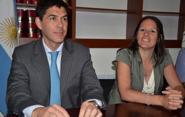 Traspaso. Alejandro Ramos asistió al acto en el que tomó posesión Luciani.
