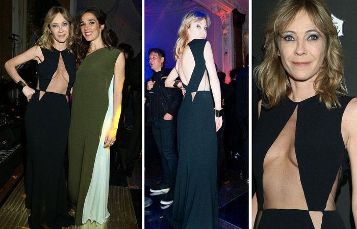 La actriz había sorprendido con un vestido geométrico que dejaba mucho a la vista.