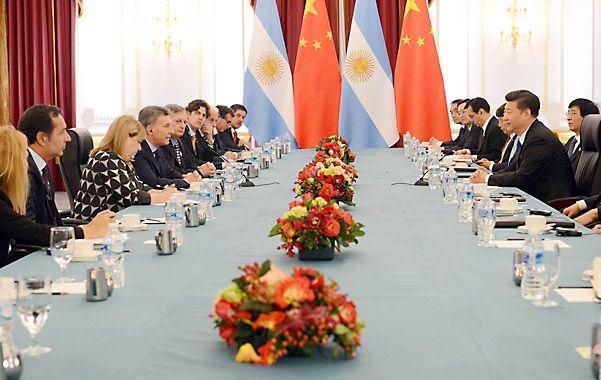 Encuentro. Los presidentes y sus respectivos funcionarios manifestaron el anhelo de ampliar la relación bilateral.