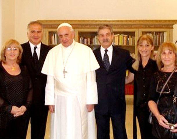 Bergoglio les prometió a los familares que los acompañará en la búsqueda de verdad y justicia.