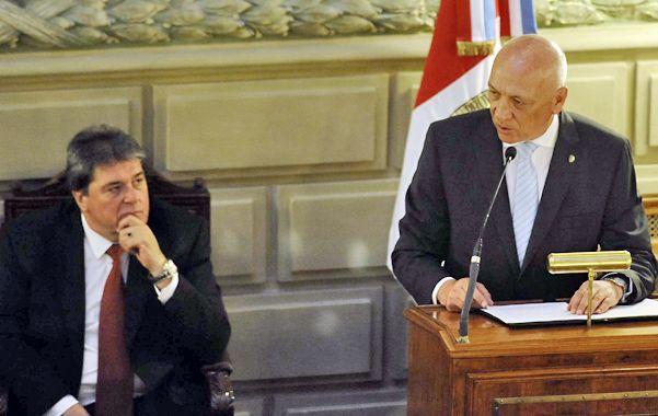 Máximos referentes. Bonfatti quiere retocar la Carta Magna y el diputado Rubeo tiene la llave para darle cauce. (Foto: A. Amaya)