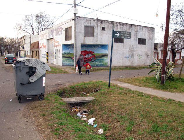 El lugar donde la vecina encontró el artefacto.. (Foto: A. Celoria)
