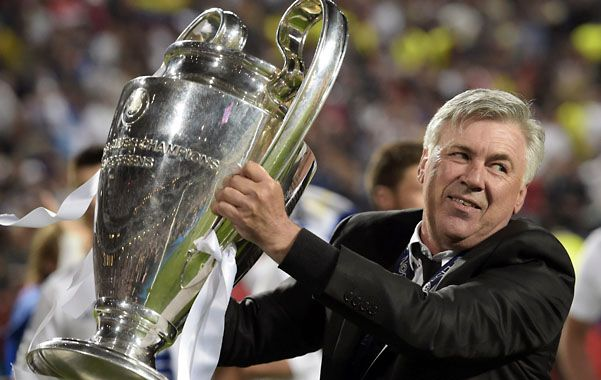"""Defensa. Ancelotti con la """"orejona"""". El conjunto merengue buscará repetir."""