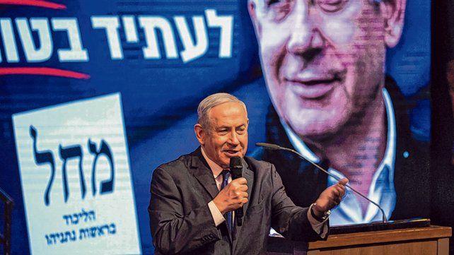 """resistiré. """"Bibi"""" Netanyahu sigue siendo el referente principal en la política de Israel."""