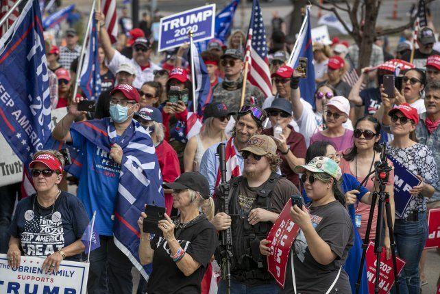 Una manifestación de seguidores de Trump en Texas.