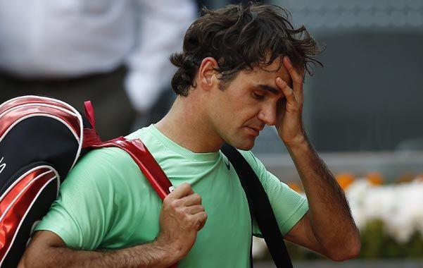Disgusto. Federer quedó frustrado por su actuación frente a Nishikori.
