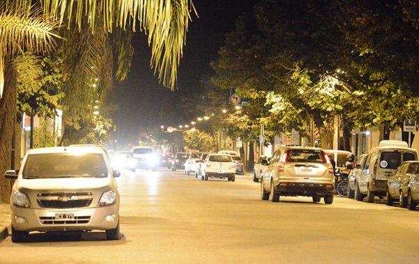 A plena luz. La nueva iluminación de la avenida Casey de Venado Tuerto.