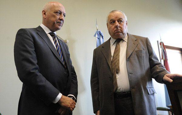 Acceso a la Justicia. Bonfatti y Gutiérrez firmaron ayer un acuerdo en Tribunales.