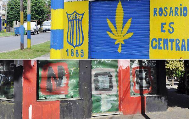 Sin tregua. Cada vez son más los rosarinos que deben padecer irracionales pintadas en el frente de sus casas. Ahora Fein les apuntó directo a los clubes por esta creciente guerra de graffitis.