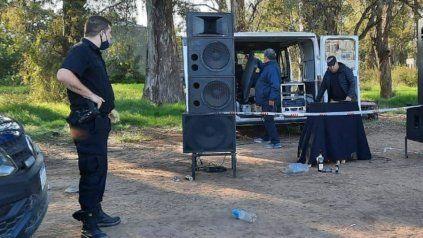 In fraganti. Los organizadores fueron detenidos en la Estancia Santa Rosa, de Luis Palacios.