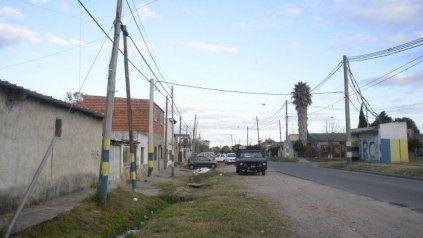 Cavia al 1300, el lugar donde atacaron a balazos a Marcelo David Valdez, quien murió con un proyectil en el cráneo.