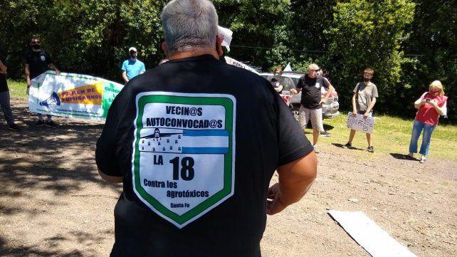Los habitantes de las localidades de la ruta se organizaron para protestar contra las aspersiones