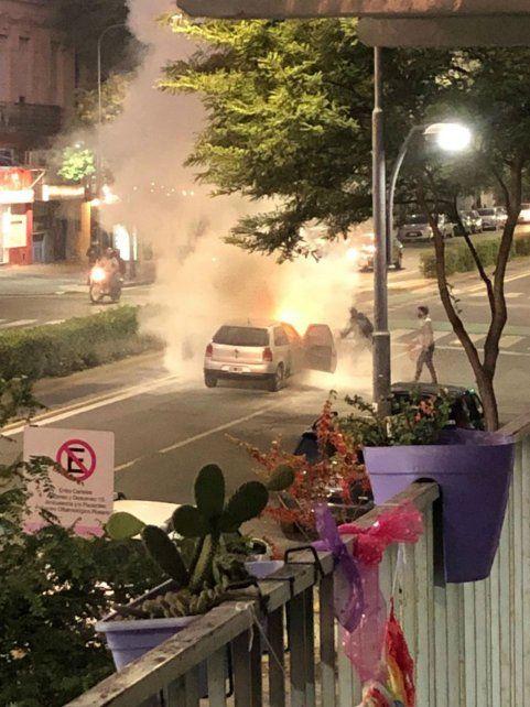 El auto se encendió inmediatamente. (Foto: gentileza Mauro Di Santo)