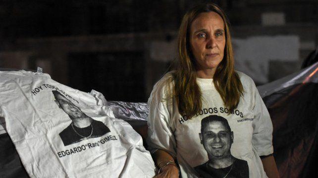 Con dolor. Gabriela Giménez el miércoles 8 de mayo frente a Gobernación