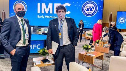 El ministro Guzmán está en Washington participando de la cumbre de ministros de Finanzas del G20.