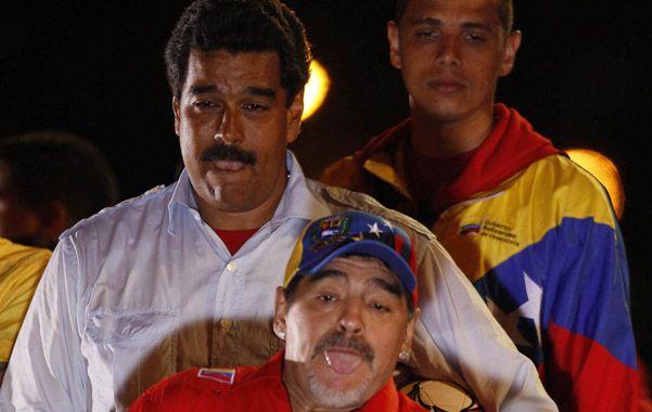 Confeso admirador. Diego lanzó pelotas a los chavistas