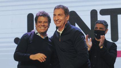 A seguir juntos. Facundo Manes y Diego Santilli festejaron temprano en La Plata.