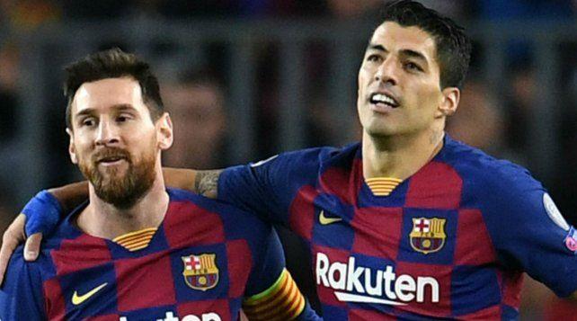 Juntos. Messi y Suárez