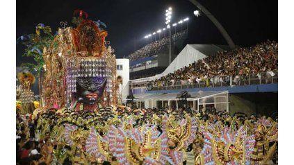 Espléndida. La carroza de Mocidade Alegre brilló durante su paso en el sambódromo de San Pablo, en los últimos carnavales.