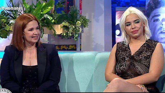 Juntas. Andrea del Boca y su hija Anna compartieron el programa Los Mammones.