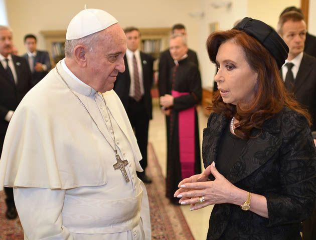 El Papa recibió a Cristina Kirchner en Santa Marta.  (Foto:  AFP)
