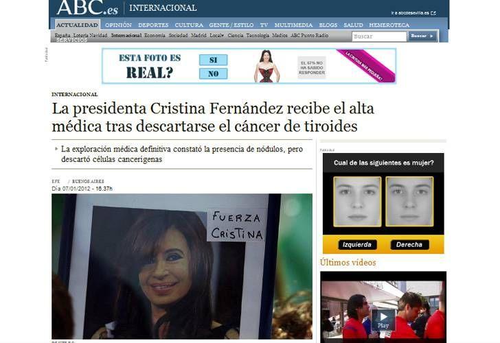 La prensa del mundo destaca que la presidenta no tiene cáncer